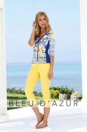 BLUE D AZUR Flora Shirt & Alysse Pants