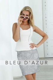 BLUE D AZUR Paris Top & Davos Skirt