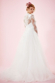 Charlotte Balbier Bridal Gown Lilac Back
